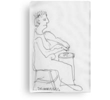 Drumming Canvas Print