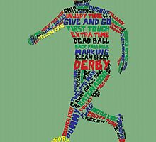 Soccer Player Typography by icoNYC