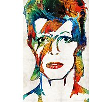 David Bowie Art Tribute by Sharon Cummings Photographic Print