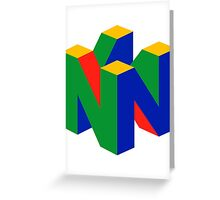 Nintendo 64 Greeting Card