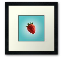 Polygon Strawberry Framed Print