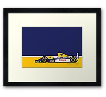 1993 Williams FW15C Formula 1 race car piloted by Alain Prost and Damon Hill Framed Print