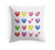 heart emojis ♡ Throw Pillow