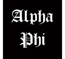 Alpha Phi Photographic Print