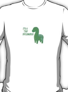 It's a tiny diplosaurus T-Shirt