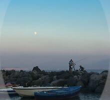 moon rising (1b) by Rachel Veser