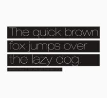 The quick brown fox jumps over the lazy dog by simplytextual