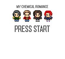 MCR - PRESS START Photographic Print