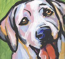Yellow Labrador Retriever Dog Bright colorful pop dog art by bentnotbroken11