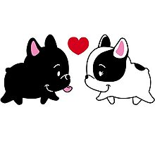 Frenchies in Love Photographic Print