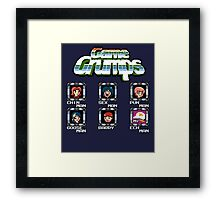 Game Grumps Megaman Framed Print
