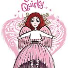 Quirky Pink Angel —T-Shirt by Sarah Baron