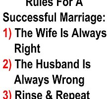 Rules For A Successful Marriage by geeknirvana