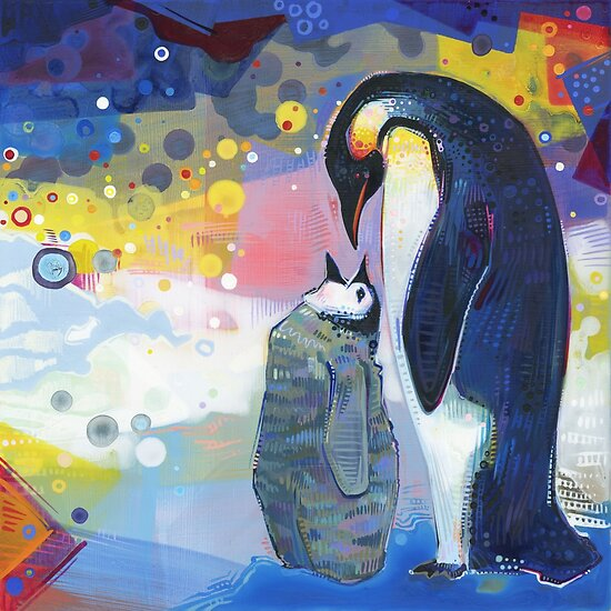 Emperor penguins by Gwenn Seemel