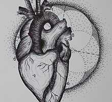 Numbered ink heart by kkirstind
