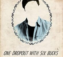 One Dropout With Six Bucks to His Name - Dean Winchester by esmeopp