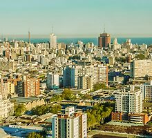 Aerial View of Montevideo by DFLC Prints