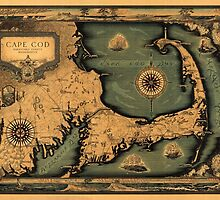 Historical Map of Cape Cod by AndrewFare