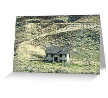 Alone...I 84 Heading To Seattle From Idaho Greeting Card