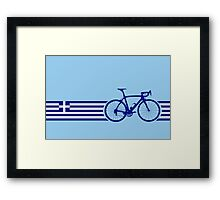 Bike Stripes Greece Framed Print