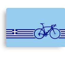 Bike Stripes Greece Canvas Print