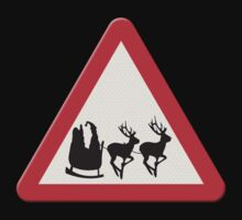 UK Warning sign Christmas ahead by funkyworm