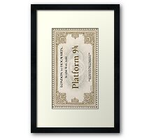 ticket to hogwarts Framed Print