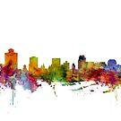 Salt Lake City Skyline by Michael Tompsett