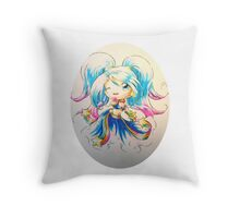 Party with Arcade Sona! Throw Pillow