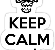 Thresh - League of Legends - Keep Calm and Click On Lantern - Black Sticker