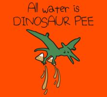 All Water Is Dinosaur Pee (Pterodactyl) Kids Clothes