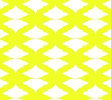 Leaf Pattern Chartreuse by sandihauanio
