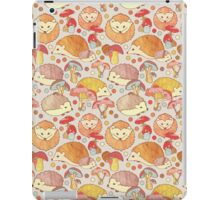 Woodland Hedgehogs - a pattern in soft neutrals  iPad Case/Skin