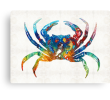 Colorful Crab Art By Sharon Cummings Canvas Print