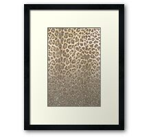 Shimmer (Golden Leopard Glitter Abstract) Framed Print