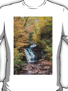 Mohican Falls Curtained With Autumn Splendor T-Shirt