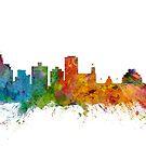 Jackson Mississippi Skyline by Michael Tompsett
