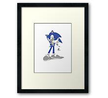 Minimalist Sonic from Super Smash Bros. Brawl Framed Print