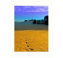Colorful winter wonderland scenery | landscape photography Art Print
