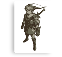 Minimalist Link from The Legend of Zelda Canvas Print