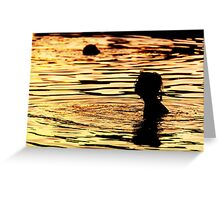 sunset in the sea Greeting Card