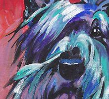 Scottish Terrier Bright colorful pop dog art by bentnotbroken11