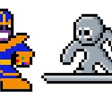 8-bit Infinity Gauntlet- Thanos Silver Surfer Death Adam Warlock by 8 Bit Hero