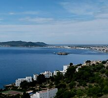 Panorama 1 from d'Alt Vila, Ibiza by Trish Meyer