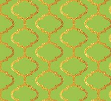 Mughal on acid green lattice Pattern by o2creativeNY