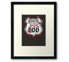 Route 666 Framed Print