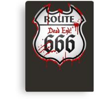 Route 666 Canvas Print