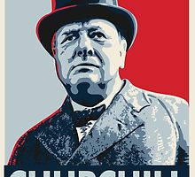 Winston Churchill by rightposters