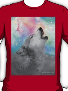 Breathing Dreams Like Air (Wolf Howl Abstract II: Gray) T-Shirt