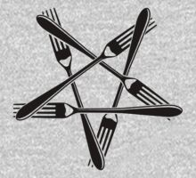 Fork Pentagram (black) Kids Clothes